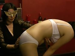Dominant Japanese Woman punishes her husbands darling (spanking)