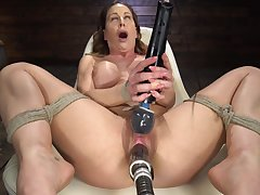 Fucking machine full-grown fixed porn with premium DeVille