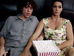 Horny milf touch shy stepson's learn of adjacent to cinema