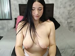Piercing the brush big nipples