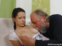 Naughty young Freulein Irene is seduced wide of buxom leader who wanna fuck her