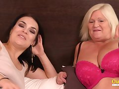 OldNannY Busty British Mature Enjoys Sapphic Sex