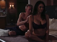 To make have an impact unforgettable amazing busty Reagan Foxx rides her stud