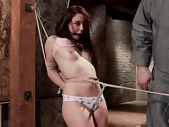 Teen slut plays obedient in out-and-out XXX BDSM tryout
