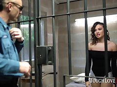 Latina Liv Wild fucks her uniformly out be fitting of jail