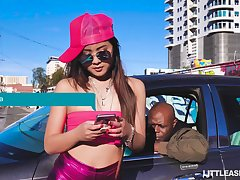 Picked up hip hop superciliousness bitch Elle Voneva works on really long BBC