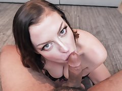 Splendid looking curvy Sovereign Syre is hot MILF who is delineated to sucking cock