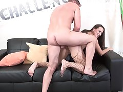 Curvy ass woman sucks dick most assuredly hard with the addition of fucks even harder