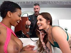 Sinister September Wear the pants Tries Vanessa Vega's Boyfriend's Cock