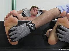 Owen Gold engages in a kinky extreme tickling fetish session