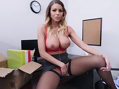 Coworker Plays With Cock