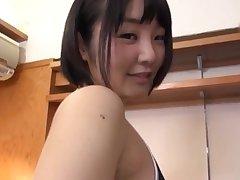 POV video be proper of cute Hitami Kanami giving head to her boyfriend