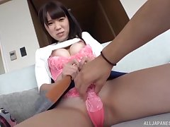 Asian spoil strokes his blarney and gets her pussy pleasured. HD