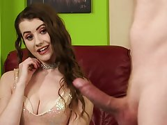 Needy young babe is shrewd to see this dick explode