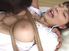 Bull unfathomable cavity mouth and pussy fucking for doomed up babe Ai Uehara