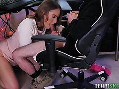 Gamer girls XXX compilation video by Team Skeet site