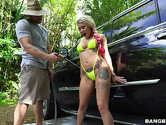 Outdoors fucking with hot ass and tits blondie Marsha May