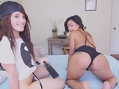Hideous lesbians amazing webcam sex show