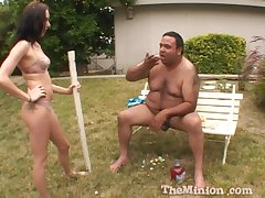 Obese lady's man with a small dick fucks amateur darling Katrina Isis