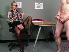 CFNM video there an unprofessional guy with the addition of horny blondie Chloe Toy