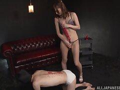 Cross explicit Kaede Fuyutsuki loves playing close by a hard shaft