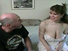 Tessa with a old fart - big mammaries