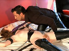 Passionate fucking during kinky BDSM throes with Nikki Coxxx