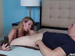 Improper MILF Be proper Evangeline gives an unconventional blowjob