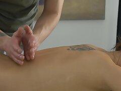 Adorable European model gets a hot massage