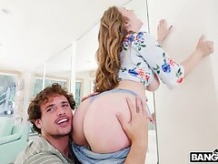 Horny steady old-fashioned Lena Paul licks his blather plus gets fucked good