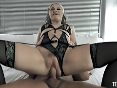 Erotic fucking involving provocative blondie Gwen Vicious in the matter of lingerie