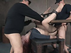Redhead Violet Monroe gets messed up in a hardcore bondage session