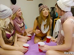 College orgy started by Aubrey Sinclair and her slutty friends