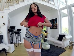 Asian girl Kendra Spade tries to head to head fat dong in hot POV instalment