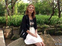 Skilled Japanese hooker Sally Yoshino is fucked away from duo kinky dudes