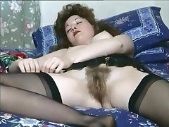 retro satin panty changing with leotard