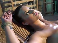 BDSM babe teased and toyed hard by master