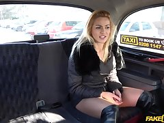 Cherry Kiss adores when the driver fucks her badly in the taxi